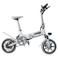 Buy cheap 240W 36V 14 Inch Big Tire Foldable Electric Bike For Ladies Customized Color from wholesalers