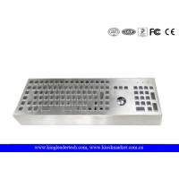 Buy cheap Machine Industrial Keyboard With Trackball Desktop Stainless Steel Keyboard from wholesalers