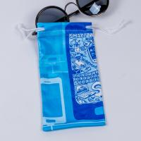 Buy cheap Small Microfiber Drawstring Eyeglass Pouch , Cloth Sunglasses Pouch Carrying Bags from wholesalers