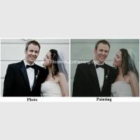 Wholesale Canvas Custom Oil Painting Portraits From Photographs Hand Painted Wedding Portraits from china suppliers