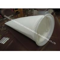 China White 1-200 Micron Filter Bags , Liquid Filter Bag For Chemical Industry Filtering on sale