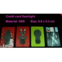 Buy cheap OEM portable credit card shape LED flashing toys HLT1102026 for promotional from wholesalers