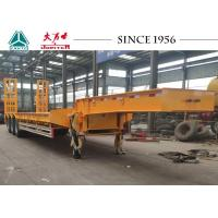 Buy cheap 50 Tons 13m To 16m Semi Low Bed Trailer For Equipment Rental In Yellow from wholesalers