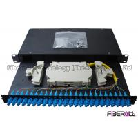 China Sliding Drawer Fiber Optic Patch Panel With Angled SC Simplex Adapter Port 24 Cores on sale