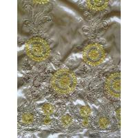 Buy cheap Wedding Sequin Embroidered Fabric ,Silk Embroidered Sheer Fabric from wholesalers