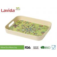Buy cheap Home Use Food Serving Trays With Carry Handles Anti - Slide Environmental Friendly from wholesalers