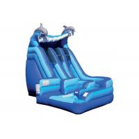 Buy cheap Anti - Skid Kids Inflatable Jumping Castle , Blue Giant Inflatable Playground from wholesalers
