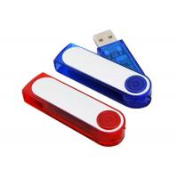 Buy cheap Plastic USB Flash Drive 32GB USB Memory Sticks Red / Blue Transparent from wholesalers