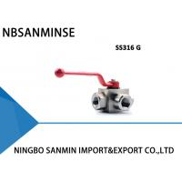 Wholesale KHB3K SS316 Three Way Hydraulic Ball Valve Corrosion Resistance Normal Temperature from china suppliers