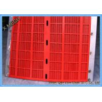Buy cheap Round Hole Mining Screen Mesh Polyurethane Material Red Color For Cement Plants from wholesalers