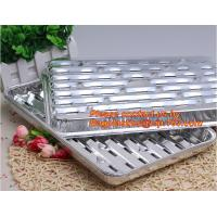 Buy cheap disposable roasting aluminum foil BBQ pan,Foil BBQ grill pan with hole Turkey pan Outdoor Barbecue roaster tray for food from wholesalers