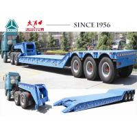 Buy cheap Hydraulic 3 Axle Low Loader Trailer Custom Dimension With Detachable Gooseneck from wholesalers