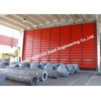 Buy cheap High Speed Fold Up Pack Doors PVC Curtain Sectional Lifting Doors With Belted Opening System from wholesalers