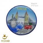Buy cheap FC12160 Round Ceramic Refridgerator Magnet for Souvenir from wholesalers