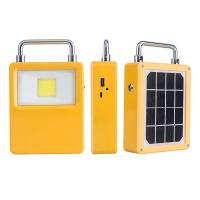 Buy cheap Portable Solar led Rechargeable Floodlight USB Inlet Outlet Charging 5V 2A Caping Outdoor Led Lamp from wholesalers