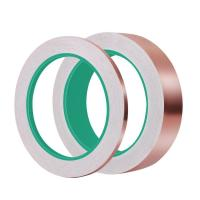 Buy cheap 1/4 inch x 55 yds Adhesive Backed Copper Foil Tape Double conductive from wholesalers