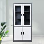 Buy cheap Double Glass Door Office SPCC Steel Storage Cupboard from wholesalers