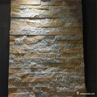 Buy cheap Rust Quartzite Stone Veneer Mini Panel , Cultured Stone Quartzite Ledger Panel from wholesalers