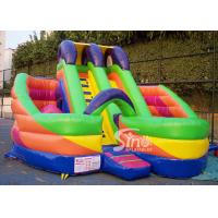 Buy cheap 6x6m millenmium kids inflatable slide with obstacles N tunnel for outdoor parties product