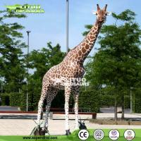 Buy cheap Simulation Animal Model Life Size Giraffe from wholesalers