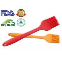 Outdoor Silicone Kitchen Tools , BPA Free Silicone Basting Brush Red color