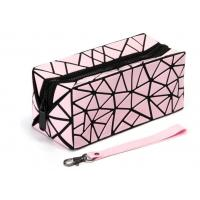 Buy cheap Foldable Makeup Toiletry Bag , Diamond Pattern PVC Cosmetic Travel Bag from wholesalers