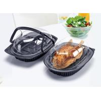 Buy cheap Take Away Microwavable Food Containers , Roasted Chicken Disposable Plastic Box With Handle from wholesalers