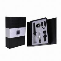 Buy cheap Bar Set, Includes 1pc Cork Pops Wine Opener, 1pc Wine Pourer and 1pc Wine Vacuum Stopper from wholesalers