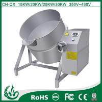 Commercial induction tilting cooker for industrial equipment