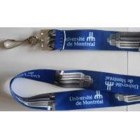 Buy cheap No Shrinking Logo Printed Lanyard Washable With Plastic Badge Hook from wholesalers