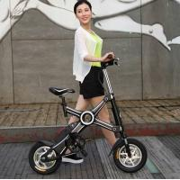 Black Popular 500W Two Wheel foldable electric bicycle with Brake Manufactures