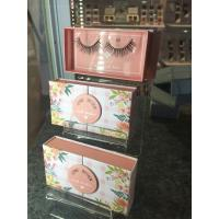 Buy cheap 3D faux mink eyelashes glue included custom package free sample silk eyelash from wholesalers