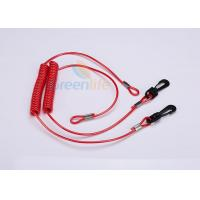 Buy cheap Extended Fishing Rod Safety Leash , Long Flexible Coil Lanyard Kill Switch Ripcord from wholesalers