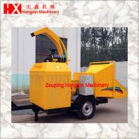 Buy cheap mobile wood crusher for chipping wood log branches into wood chips with diesel engine brush chipper from wholesalers