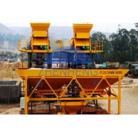 Buy cheap HZS75 75 M3/H Concrete Batching And Mixing Plant With PLD2400 Baching Machinery product
