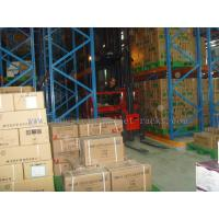Buy cheap Pallet Storage Very Narrow Aisle Racking Warehousing Management System Orange from wholesalers