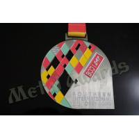 Wholesale BJJ Logo Zinc Allaoy Custom Sports Medals With Sublimated Ribbon Die Cast  Process from china suppliers