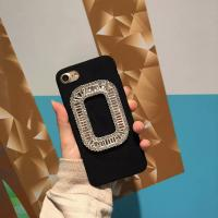 Buy cheap TPU&Fiber Korea Style Frame Diamond Cell Phone Case Cover For iPhone 7 6s Plus from wholesalers