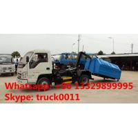 Buy cheap dongfeng brand 4*2 LHD mini hydraulic arm trash truck for sale, hot sale factory price forlandhook lift garbage truck from wholesalers