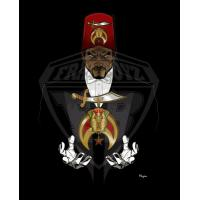 China Professional Vector art Shriners Photo for Digital Embroiderers, Web Designers on sale
