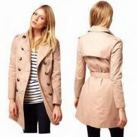 Buy cheap Trench Coat with Wide-cut, Notched Lapels and Double Breasted Design from wholesalers