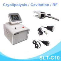 Mini Cryotherapy Fat Freezining Machine With Cavitation / Radio Frequency