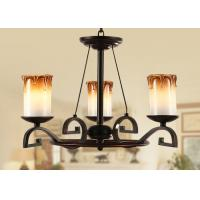 Buy cheap 3 Light Bordeaux Classic Wrought Iron Chandelier , Dining Room Chandeliers Lighting from wholesalers