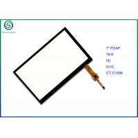 Buy cheap IIC Interface PCAP Projected Capacitive Touch Screen , 7 Touch Panel With Aspect Ratio 16:9 from wholesalers