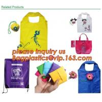 Buy cheap Cheap Cute Reusable Bags bolsas ecologicas plegables Printing Foldable Polyester Drawstring Shopping Bags bagplastics ba product