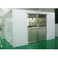 China Industry Cleanroom Air Shower System Tunnel With Width 1800 Automatic Sliding Doors on sale