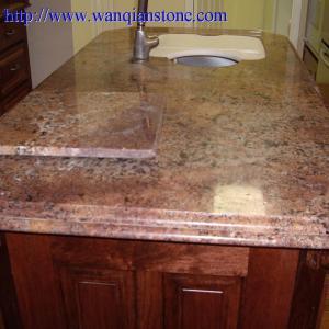 China Yellow Granite kitchen countertop on sale