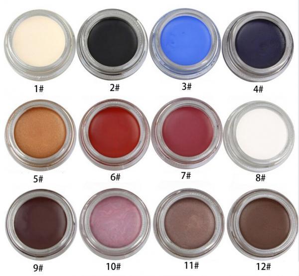 Buy cheap Waterproof Eye Makeup Eyeliner Gel High Pigment 12 Colors Easy To Grip Slim from wholesalers
