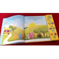 Buy cheap Children sound book, kids music book, custom music book printing,song book, China printing factory,button book from wholesalers