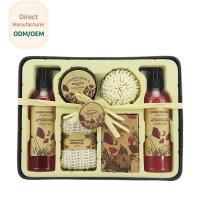 Buy cheap Relaxing Bath Gift Sets Red Rose Flower Scent Volume 225ml 325ml 400ml from wholesalers
